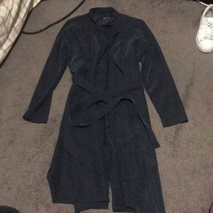 American apparel blue trench coat